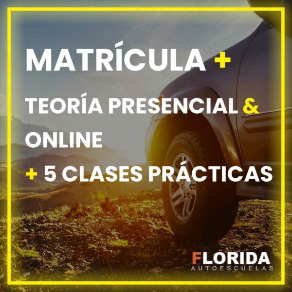 matricula y teoria presencial online clases autoescuela