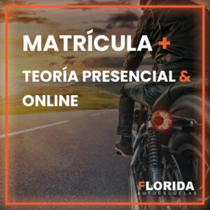 matricula y teroria presencial online moto autoescuela